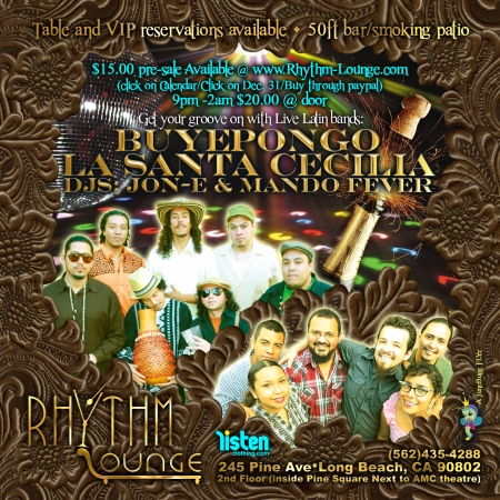 La Santa Cecilia and Buyepongo Live New Years 2010 Flyer