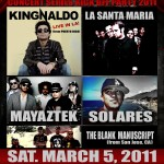 A&M Latin Music Invasion 2011 with KingNaldo, La Santa Maria, Mayaztek, Solares, More