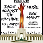 LA Rising, performances by Rages Against The Machine, Muse, Rise Against, Ms Lauryn Hill, Immortal Technique, El Gran Silencio
